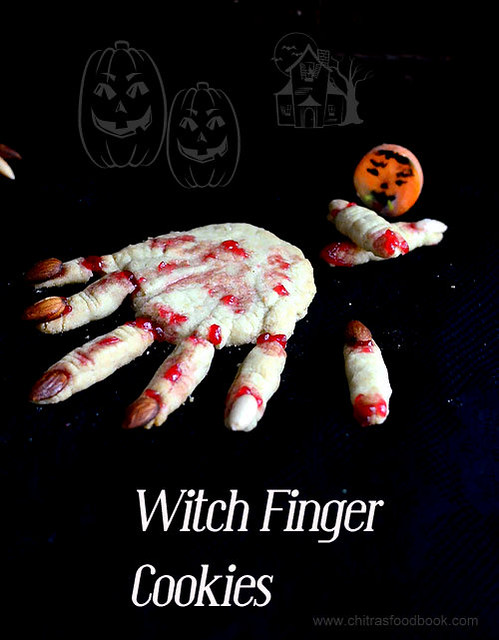 eggless witch finger cookies