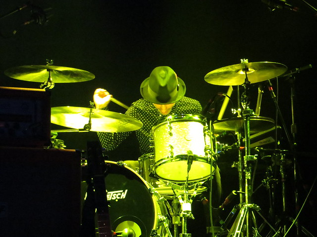You know what the problem with modern music is? There's not enough drum solos. (Unless you're at an Airborne Toxic Event gig, in which case Daren Taylor will take care of you.) Photo by Julie.