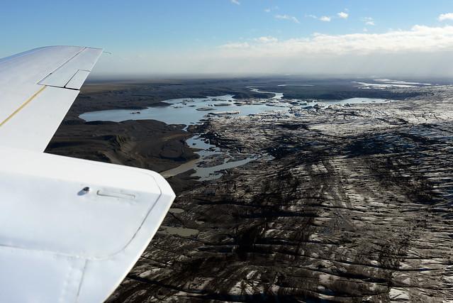 Impresionante panorámica desde la avioneta de Islandia