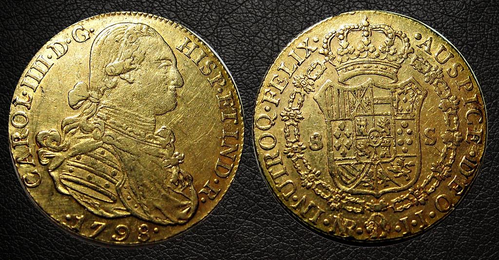 8 Escudos 1798. Carlos IV. Santa Fe de Nuevo Reino 23832376715_9187691a0f_b