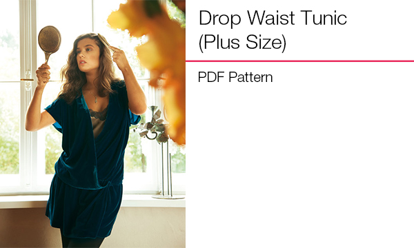 Drop waist tunic plus