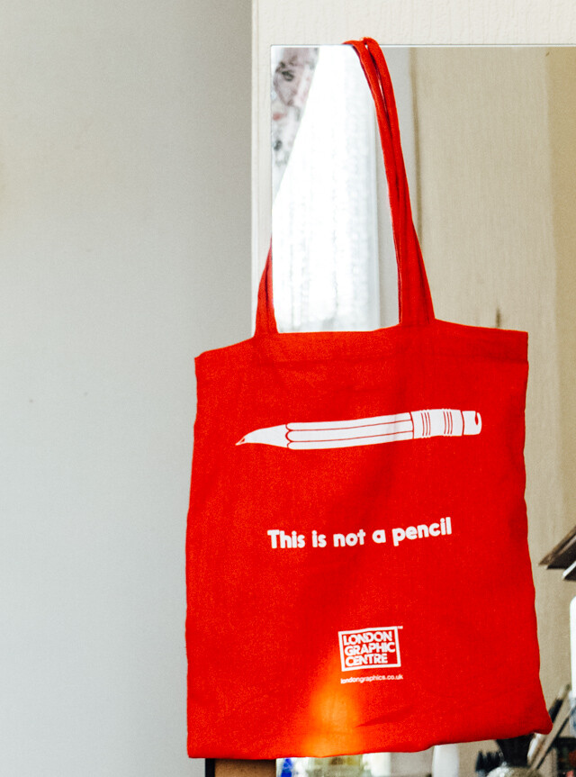 london graphic centre new tote bag - this is not a pencil