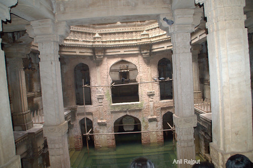 Adalaj Ni Wav, Step well , water point with chiseled stairs