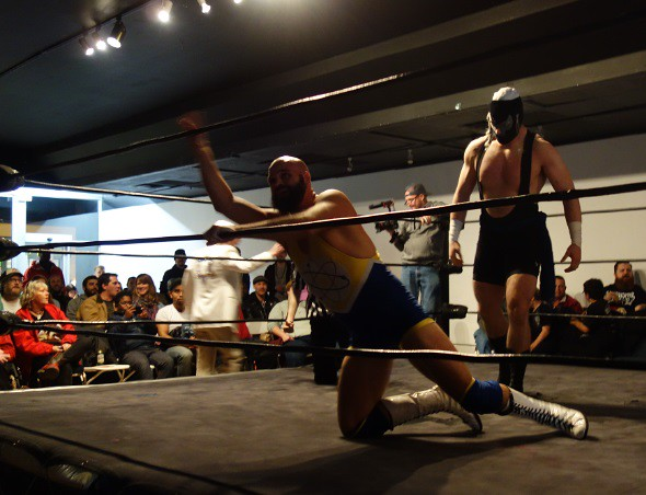 Wrestling action filmed for Rogers TV show