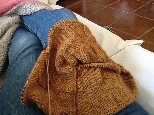 Gola tricotada em Herriot da JMF, pela Anabela