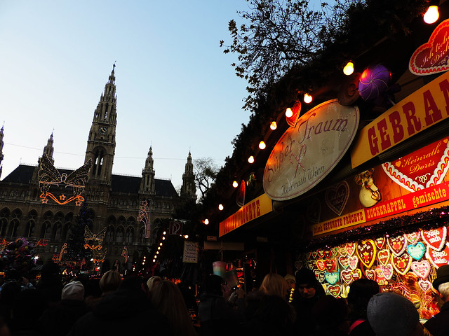 Christmas market, Vienna, Austria