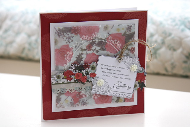 Pocket Full of Posies 8x8 Embossed Vellum Card by StickerKitten
