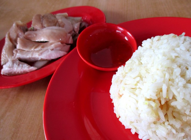 Colourful chicken rice 1