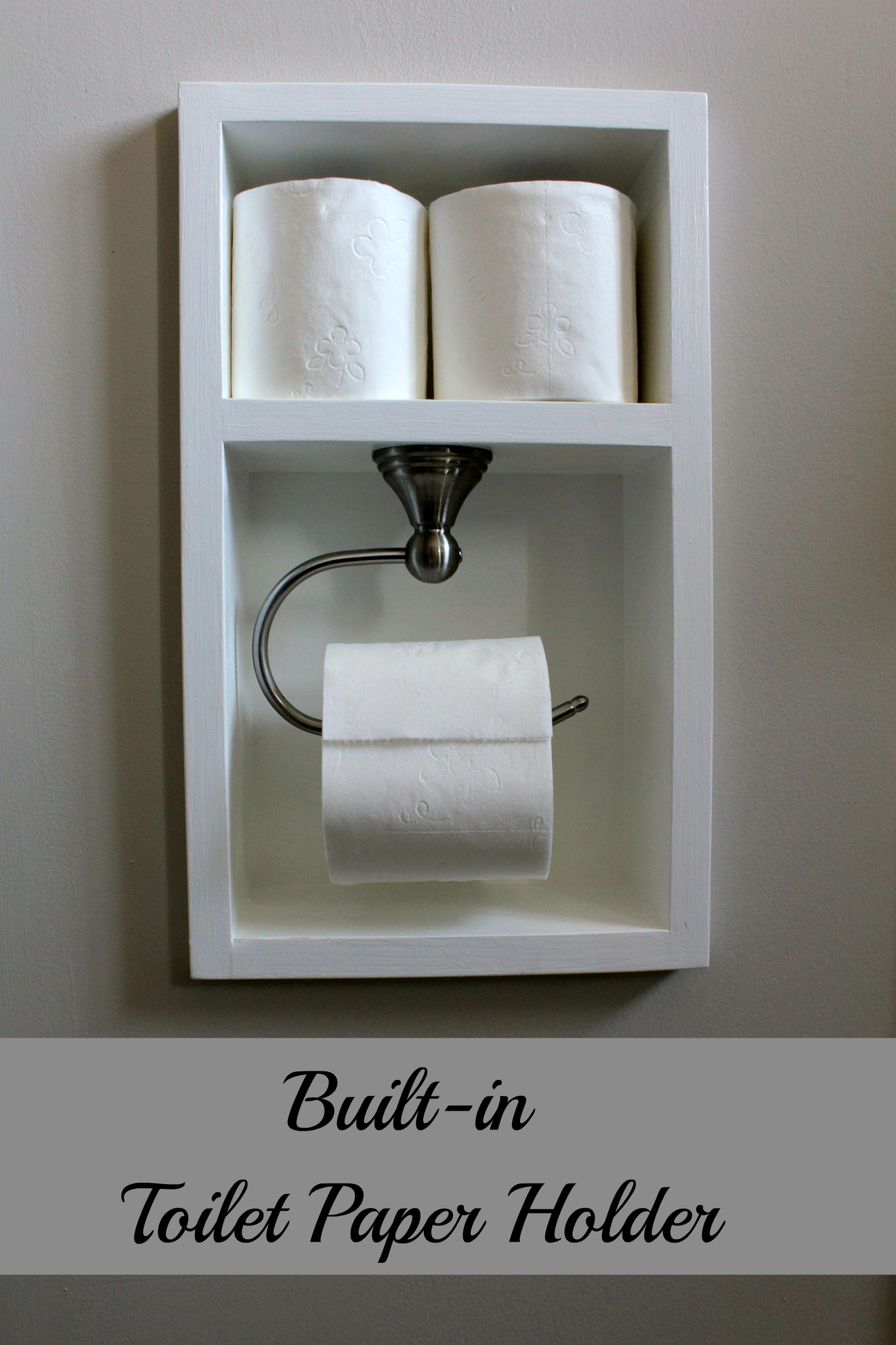 Turtles and tails recessed toilet paper holder aka for D i y bathroom installations