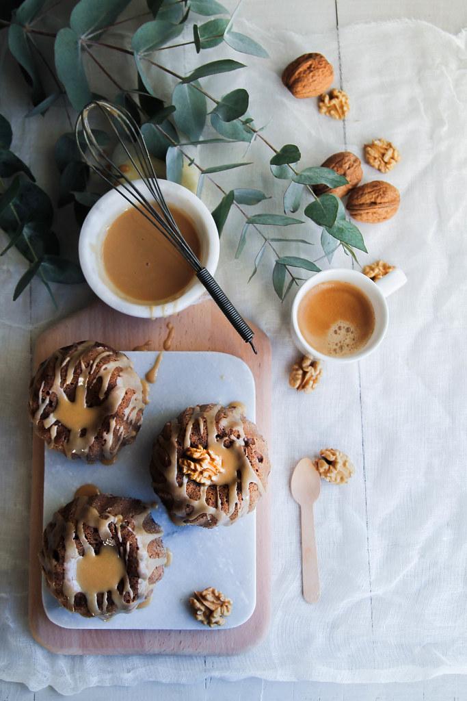 Bundt cake aux noix café