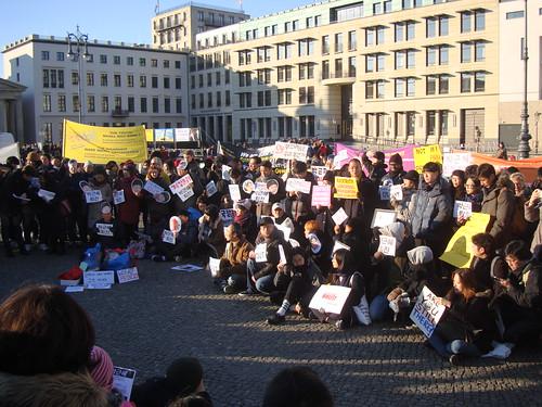 Anti-Präsident Demo