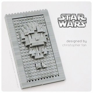 Nanoblock Han Solo in Carbonite, by inanoblock, on Flickr