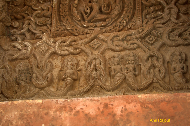 Naglok on walls near ceiling, Osiyan group of Temples, Osiyan Rajasthan