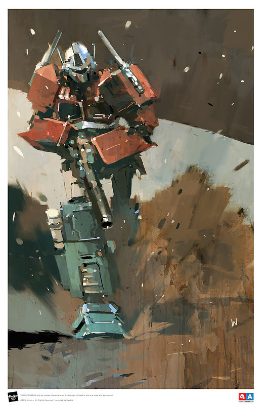 Optimus Prime Limited Edition Print by Ashley Wood