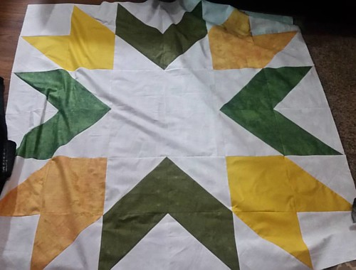 Finished the Giant GB Starburst top  tonight. Made with leftover scraps from the last one.