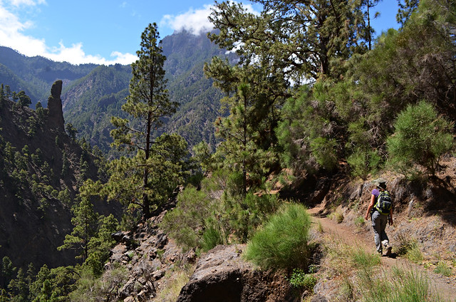 Walking in the Caldera de Taburiente, La Palma