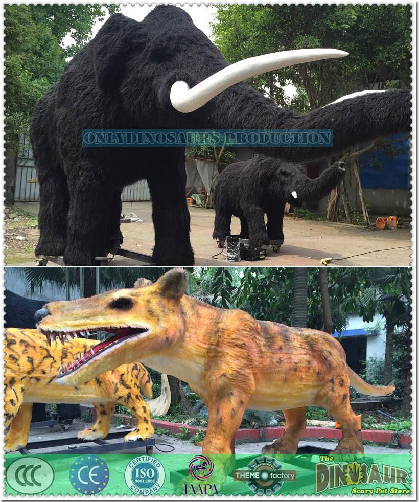 Animatronic Mammoth Family