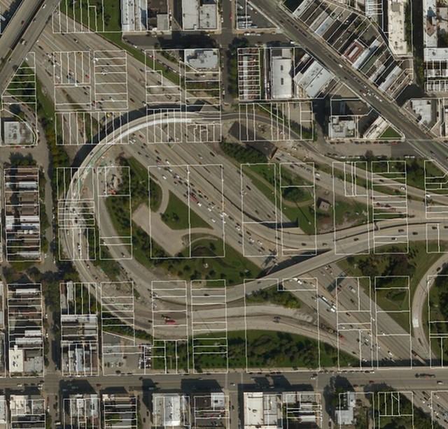 The Ohio Feeder and the Kennedy Expressway in River West. Image: Neil Freeman