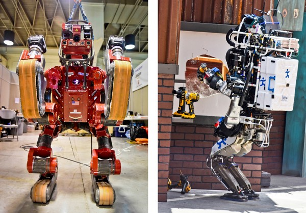 DARPA challenge robot is very clumsy, but they reveal a truth