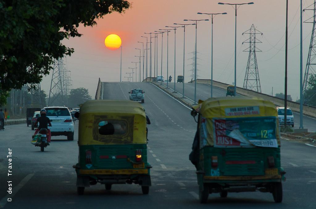 Auto-rickshaws in Gurgaon