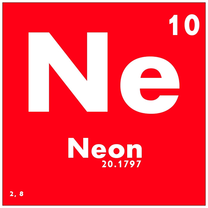 010 neon periodic table of elements watch study guide