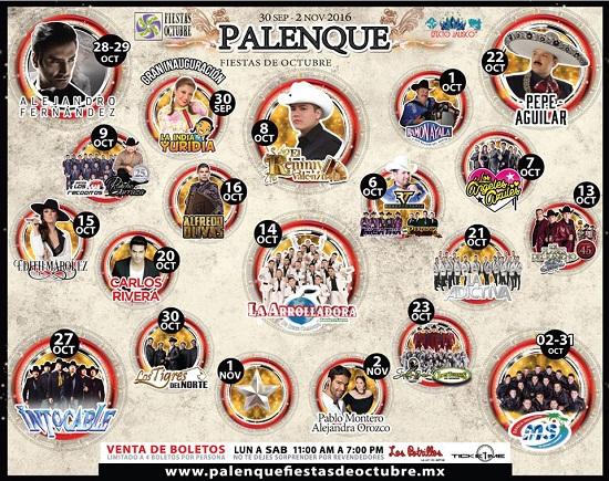 PALENQUE DE LAS FIESTAS DE OCTUBRE 2016
