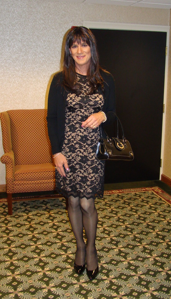 Black Lace Dress Heading Out For The Night Going To A