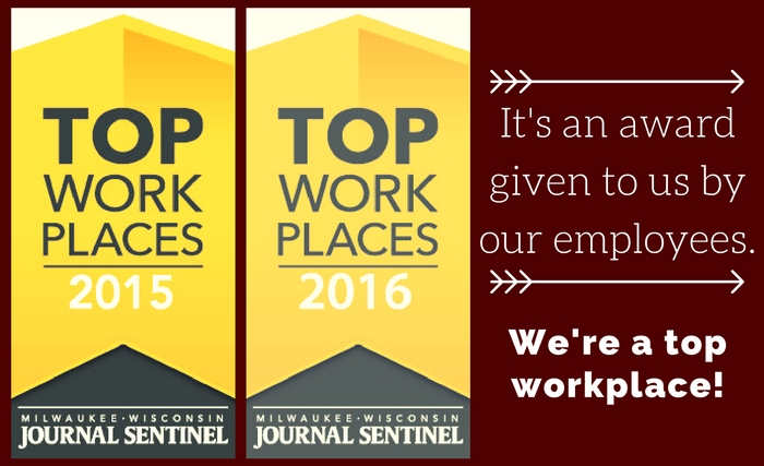 we're a top workplace