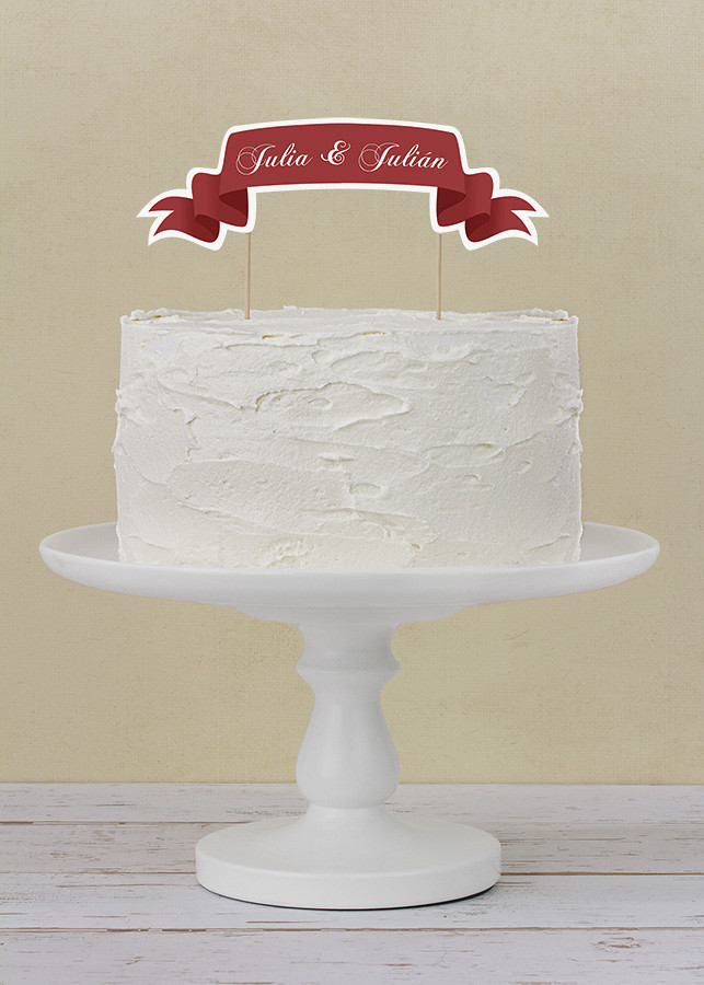 Topper aniversario boda