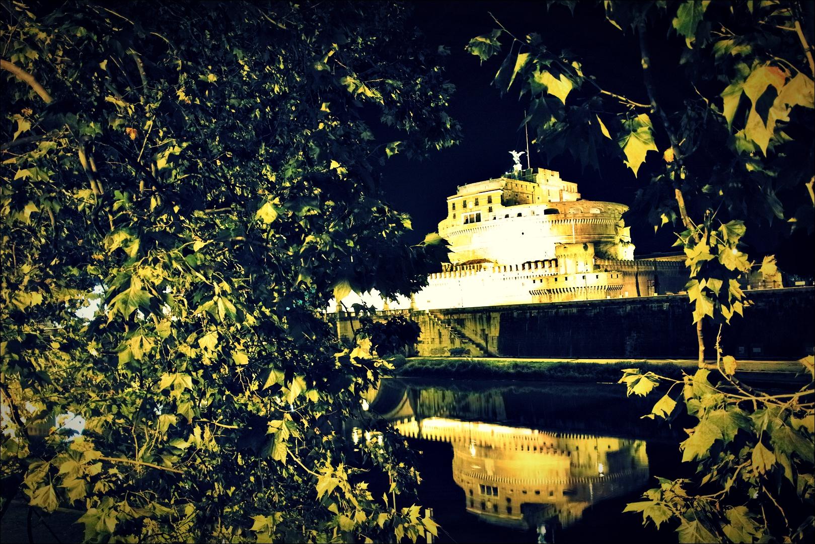 산탄젤로 성-'로마의 밤거리'