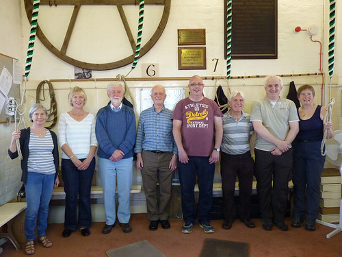 Group photo of quarter peal ringers
