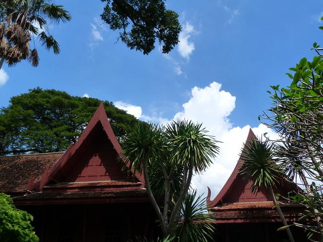 Tejados de madera de la Casa de Jim Thompson (Bangkok)