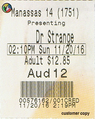 Doctor Strange ticketstub