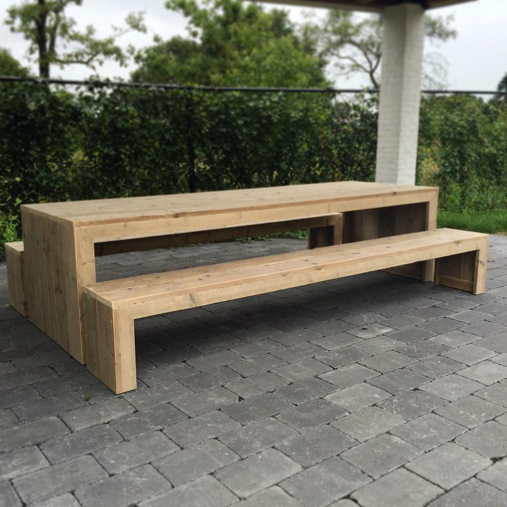 Tuinset van steigerhout te koop bij w00tdesign for Steigerhout tuinset