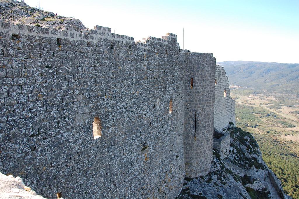 Muralla Norte del castillo de Perypertuse
