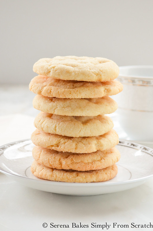 Soft and chewy Sugar Cookies are the perfect treat to leave for Santa Clause on Christmas! serenabakessimplyfromscratch.com