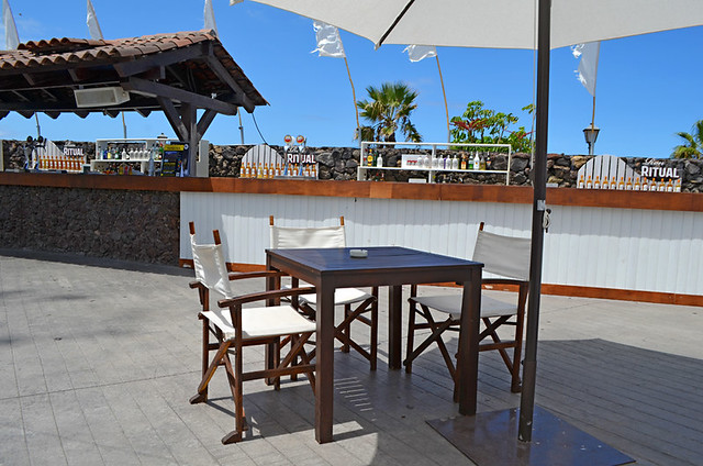 Terrace, Andana Beach Club, Puerto de la Cruz, Tenerife