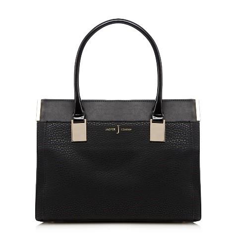 Black textured rectangular grab bag