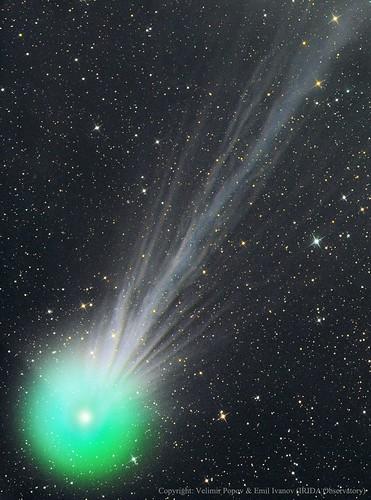 VCSE - Mai kép - C/2014 Q2 (Lovejoy) üstökös ioncsóvája