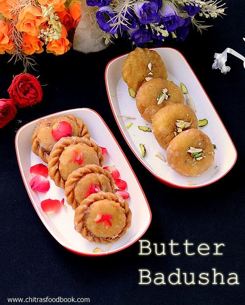 Butter Badusha Recipe / Balushahi – Diwali Sweets Recipes
