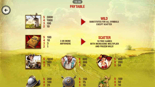 free The Riches of Don Quixote Mobile slot payout