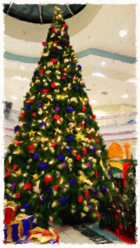 Logan valley mall christmas tree 2015 painting javcon117 flickr
