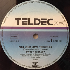 SWEET ECSTASY:PULL OUR LOVE TOGETHER(LABEL SIDE-A)
