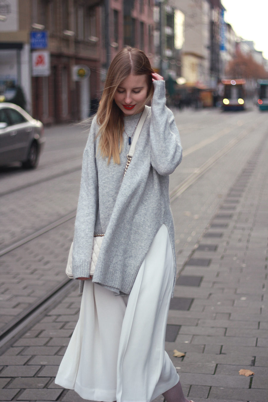 outfit culottes mit oversized pullover herbst winter tauglich kombiniert