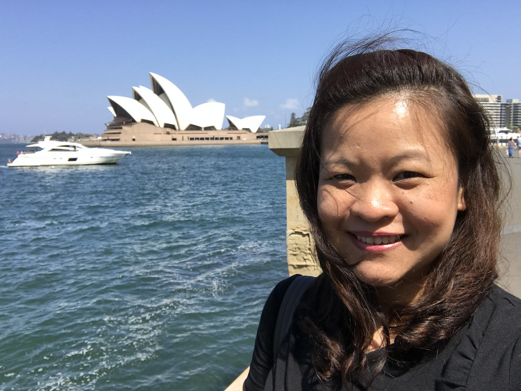That's me with Sydney Opera House after the interviews were done. Relieved and can't wait to explore Sydney!