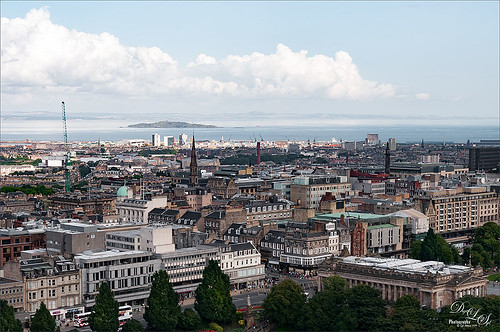 Image of a View from Edinburgh Castle in Scotland