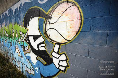 Basketball fan mural flickr photo sharing for Basketball mural