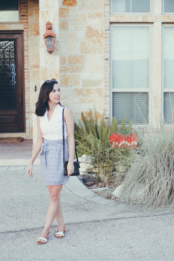austin texas, austin fashion blog, austin fashion blogger, austin fashion, austin fashion blog, blue gingham skirt, francesca's skirt, pinterest outfit, off the shoulder dress, austin style, austin style blog, austin style blogger, austin style bloggers, style bloggers