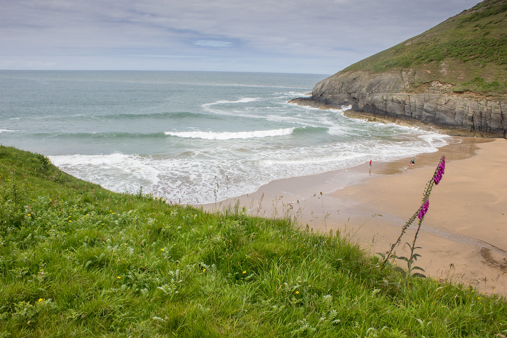 View over Mwnt beach