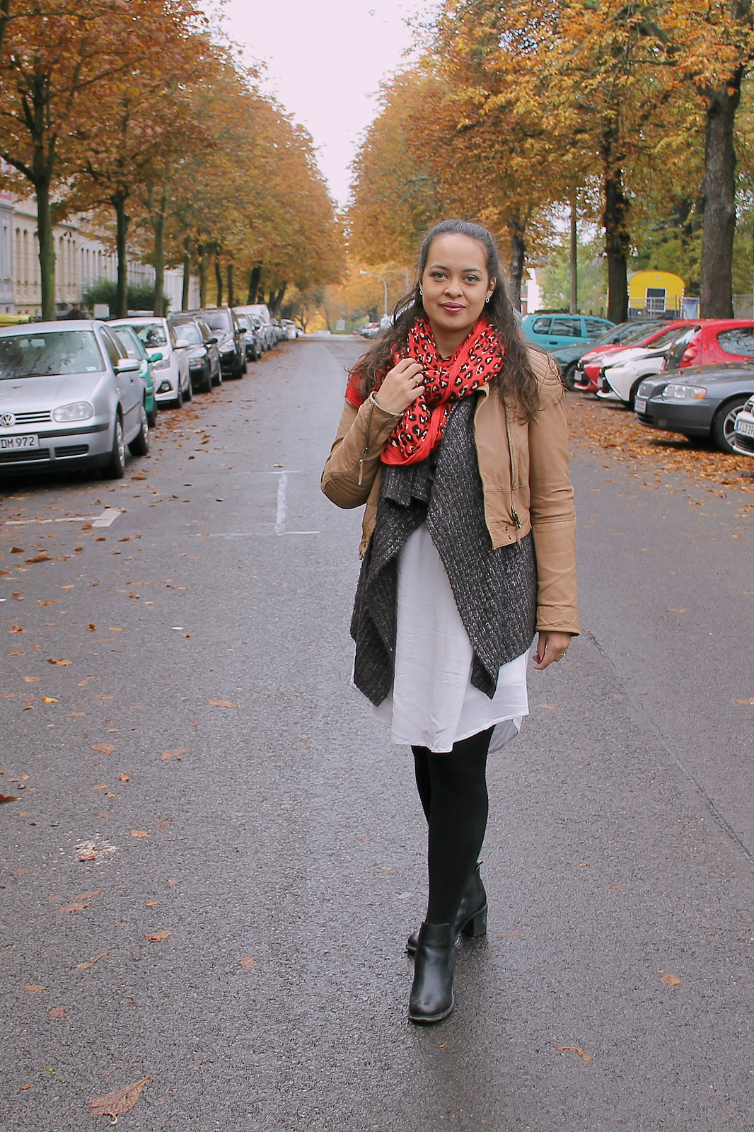 Country Bumpkin or City Maven? - Fall Layering with Knit and Leather Jacket I Style By Charlotte